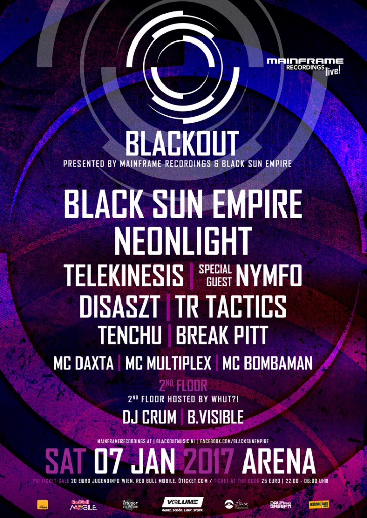 Mainframe Recordings LIVE pres. Blackout – Tickets are available!